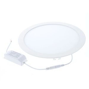 24W 2835 SMD 120-LED 2300Lumens Round Shape Light Panel Recessed Ceiling Downlight - White