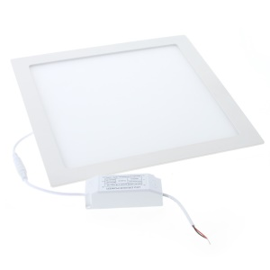 24W 2835 SMD 120-LED 2300Lumens Square Light Panel Recessed Ceiling Downlight - White