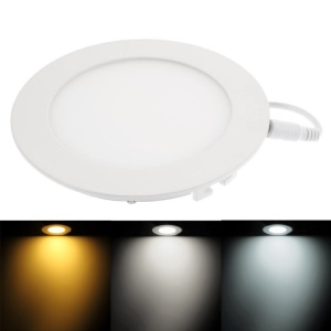 18W 2835 90-LED 1600Lumens Round Panel Light Dimmable Recessed Ceiling Lamp