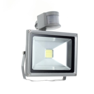 20W DC 12V PIR Motion Sensor LED Flood Light - Cool White