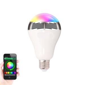 E27 20Pcs RGBW Color-changing LED Bluetooth Speaker for Android IOS Smartphones