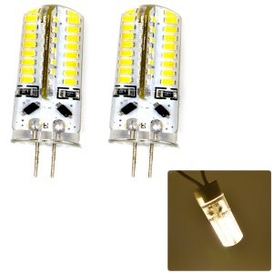 One Pair G4 4W 63-led 3014SMD DC 12V 250lm Bi-Pin Light - Warm White