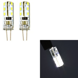 One Pair G4 2W SMD 3014 24-LED Light Bulb AC 220V - White