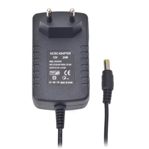 12V 2A 100-240V Power Supply DC Adapter for LED Light CCTV Security Camera etc. - EU Plug