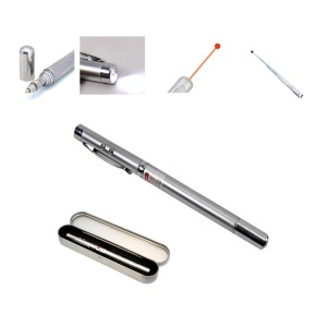 4 in 1 Multi-functional LED Extendable Laser Ball-point Pen GG1203