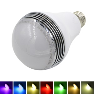 JBL-01 E27 8W Bluetooth V2.1 Smart Speaker Colored LED Bulb Light for iOS / Android (AC 85-265V)