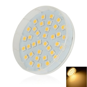 LEXING GX53 36-SMD-5050 4-4.5W Round LED Cabinet Light AC220-240V - Warm White (2700-3200K)