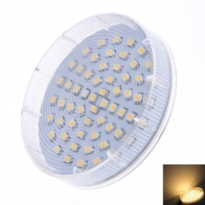 LEXING GX53 60-SMD-3528 2.5-3W Round LED Cabinet Light AC220-240V - Warm White (2700-3200K)