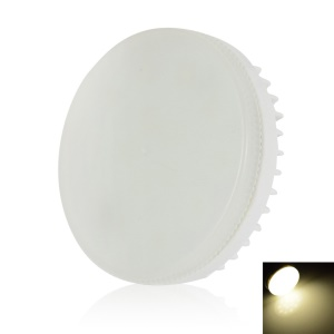 LEXING GX53 15-SMD-5730 0-6W Dimmable Round LED Cabinet Light AC110-130V - Natural White (3800-4500K)