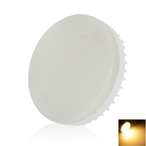 LEXING Dimmable GX53 21-SMD-5730 0-7W Round LED Cabinet Light - Warm White(110-130V)