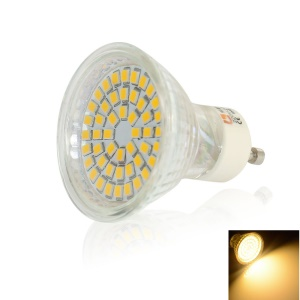 LEXING GU10 48-SMD-2835 3W 170-210LM LED Spot Light with Head Shell - Warm White(2700K-3200K)