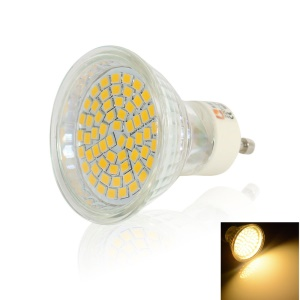 LEXING GU10 3.5W 60-SMD-2835 200-230LM LED Spot Light with Head Shell - Warm White(2700K-3200K)