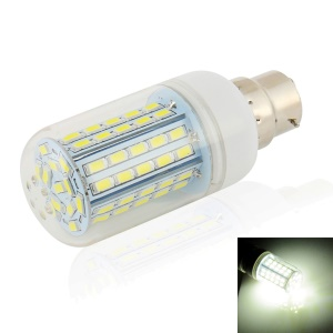 LEXING 7W B22 SMD 5730 AC 110-240V 72-LED Corn Light Bulb with Cover - Natural White