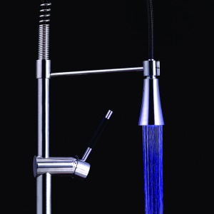 LD8009-A2 Water Glow LED Faucet Tap - Blue Light