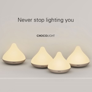 Chocolight Waterproof Wireless Touch Response LED Night Light Lamp - Pink
