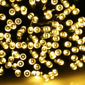 YJ-2009 22M Waterproof Solar Powered 200-LED String Lights - Warm White
