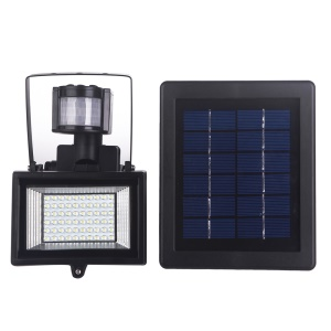 YJ-2337 60-LED Solar Power Outdoor Sensor Flood Light Spot Lamp Security Lighting