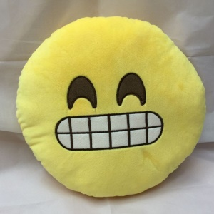 Emoji Emoticon Cushion Pillow Stuffed Plush Soft Toy , Size: 35 x 35cm - Giggle