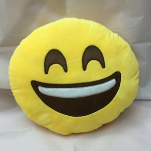 35 x 35cm Emoji Emoticon Cushion Pillow Stuffed Plush Toy Doll - Big Smile