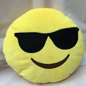 Emoji Emoticon Stuffed Plush Toy Doll Cushion Pillow, Size: 35 x 35cm - Cool