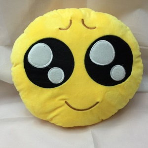 35 x 35cm Emoji Emoticon Cushion Pillow Stuffed Plush Toy Doll - Cute Face