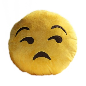 Cushion Pillow Emoji Emoticon Stuffed Plush Toy Doll, Size: 35 x 35cm - Asquint