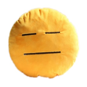 Cushion Pillow Emoji Emoticon Stuffed Plush Toy Doll, Size: 35 x 35cm - Helplessness