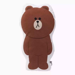 LINE FRIENDS Cartoon Cushion Pillow Stuffed Plush Soft Doll, prendre les mensurations de qqn pour (faire) qch: 40 x 30cm - Ours
