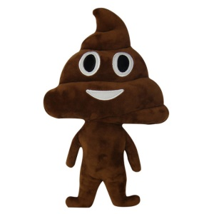Lovely 35mm Plush Stuffed Toy Emoji Smiley Pillow Cushion - Excrement
