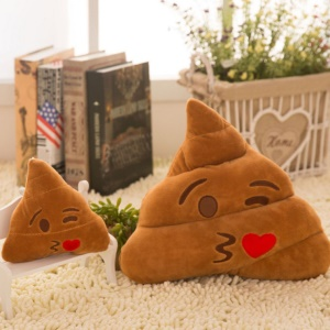 Soft Poo Shape Emoticon Stuffed Plush Toy Cushion Pillow - Blow Kiss