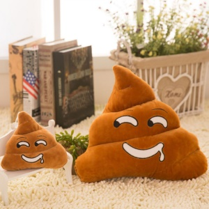 Funny Emoji Poo Shape Stuffed Pillow Bed Sofa Chair Cushion 35cm - Drooling