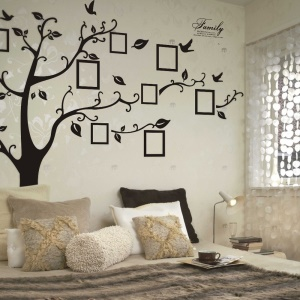 Black Photo Picture Frame Memory Tree Autocollant muraux amovible