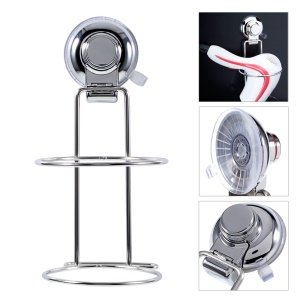 CW815 Stainless Steel Suction Cup Hair Dryer Holder for Bathroom