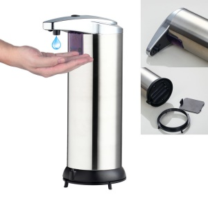 Stainless Steel Automatic IR Sensor Soap Liquid Dispenser Touchless for Bathroom Kitchen