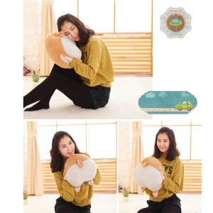 Funny Cute Corgi Butt Pillow Hand Warmer Soft Plush Toy Home Sofa Apoio - porte L