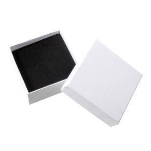 Mini Paperboard Jewelry Box Earring Ring Pendant Jewelry Box - White
