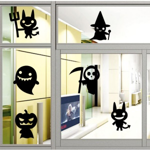 Halloween Cute Cartoon Pattern Wall Stickers Living Room Bedroom Removable Wall Decal, Size: 42 x 58cm