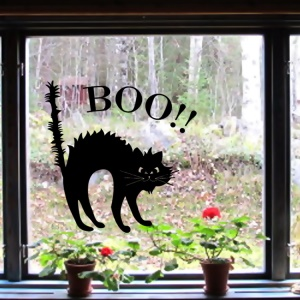 Environmental Halloween Cat Wall Sticker Living Room Bedroom Removable Wall Decal