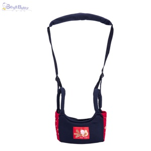 BEST BABY A-272 Pure Cotton Toddler Walk Learning Belt Breathable Baby Walking Wing - Red + Blue