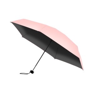 HOCO Ladies & Women's Lightweight 5-Fold Pocket Parasol Umbrella - Pink