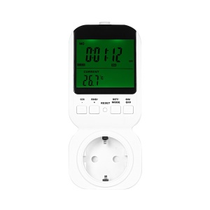 Multifunction Thermostat Timer Switch Socket with Big LCD Display - EU Plug