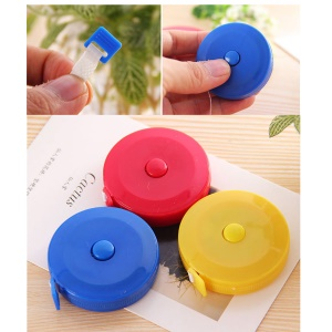 2Pcs/Set 1.5M Portable Retractable Ruler Tape Measure Sewing Tailor Dieting Tapeline Ruler