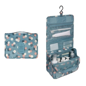 Hanging Toiletry Bag Makeup Pouch Travel Organizer - Daisy Mint