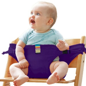Portable Baby Chair Infant Seat Dining Lunch Safety Belt Feeding High Harness - Purple