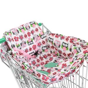 2 in 1 Baby Shopping Cart Cover and High Chair Cover with Safety Belt