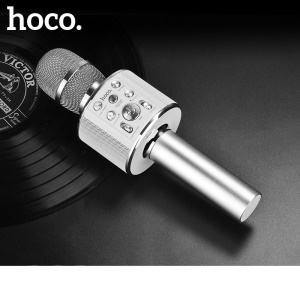 HOCO BK3 Cool Sound KTV Handheld Microphone - Silver Color