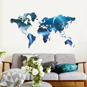 Creative World Map Pattern Wall Home Decal Bedroom Living Room Removable Wall Sticker, Size: 99x55cm