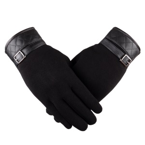 Full-finger Winter Gloves Touch Screen Warm Gloves Windproof Gloves - Black