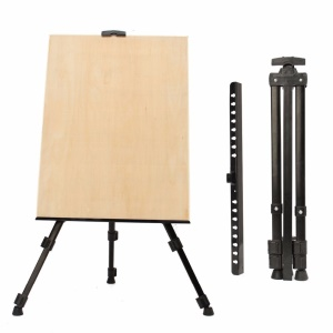 Portable Metal Triangular Easel Adjustable Tripod Display Stand for Poster Displaying Drawing and Paint