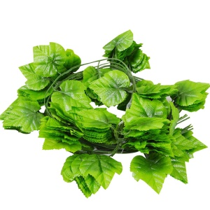 24Pcs Vivid Artificial Plants Evergreen Grapes Leaves Home Decor